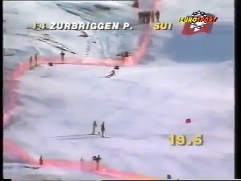 Marc Girardelli crash (super-G Sestrieres 1989)