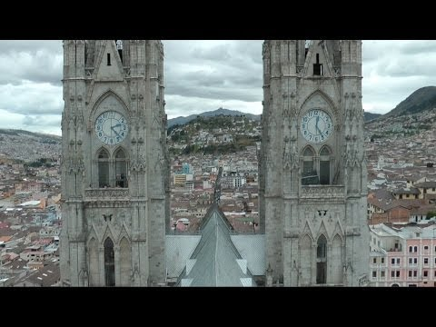 Basilica del Voto Tower View - Quito Ecuador