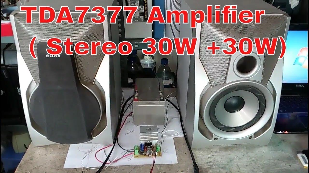 Tda7377 Amplifier Circuit 12v Stereo 30w  30w Dc12v 18v