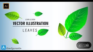 How to Draw Leaves | Adobe Illustrator | Learn & Draw | Lesson 1