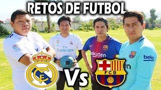Reto ÉPICO!!! 😱BARCELONA Vs REAL MADRID   PENALTIS CHALLENGE