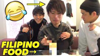 JAPANESE BROTHER TRY SPECIAL FILIPINO FOOD!   Fumiya cooks Filipino food!(Sinigang Ramen)