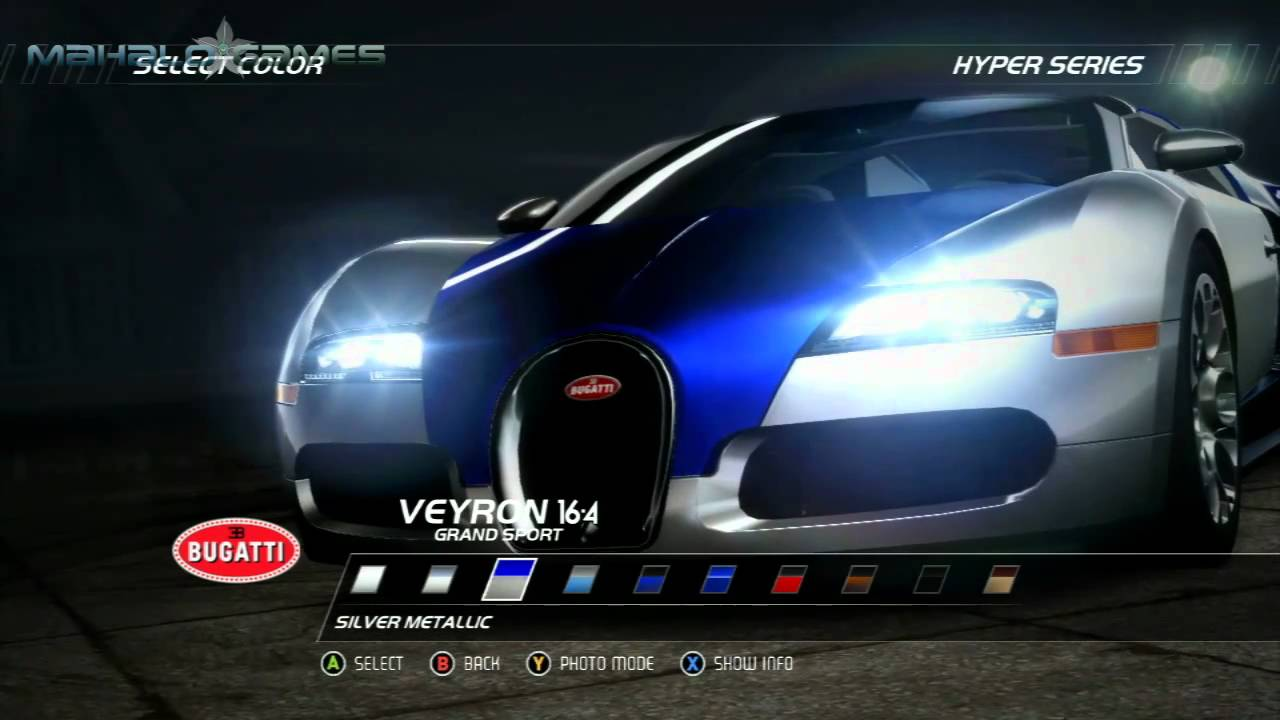 need for speed hot pursuit cars bugatti veyron 16 4. Black Bedroom Furniture Sets. Home Design Ideas