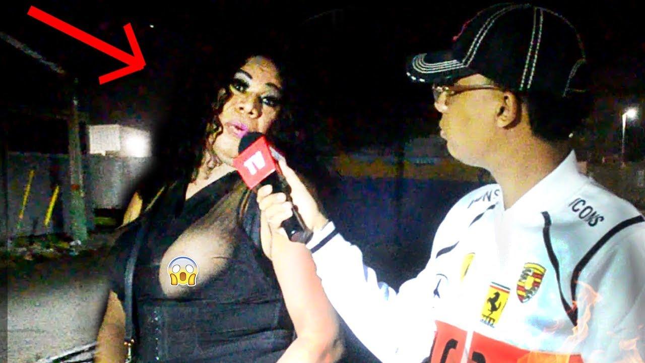 Entrevistando TRA-VESTIS en la calle y  mujeres de la vida alegre !