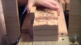 Cutting Bamboo Cold Process Soap
