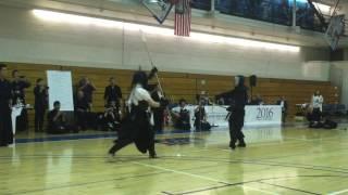 Naginata Vs Kusarigama Demonstration - NYC Kendo Club 40th Anniversary Shiai