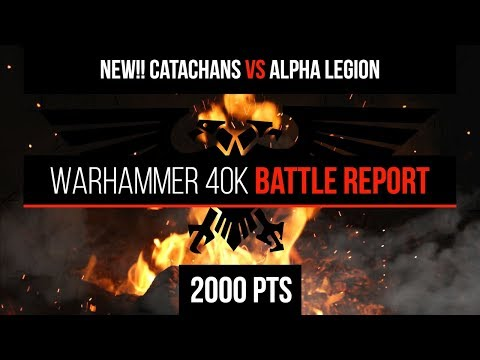 Warhammer 40k 8th Edition - NEW Imperial Guard (Catachans) vs Alpha Legion 2000pts