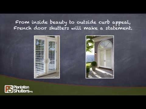 Shutters look great on French Doors -- PlantationShutters