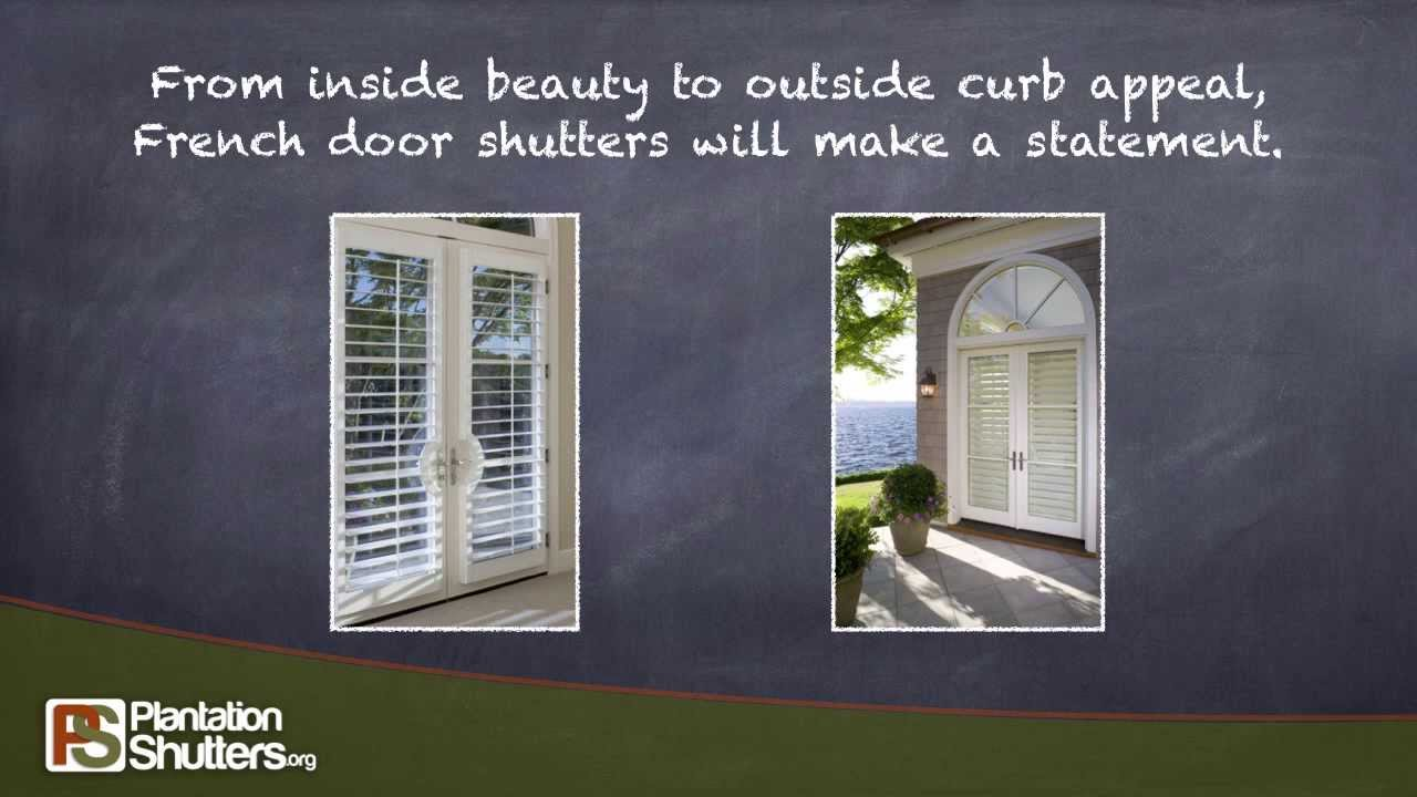 Shutters Look Great On French Doors    PlantationShutters.org