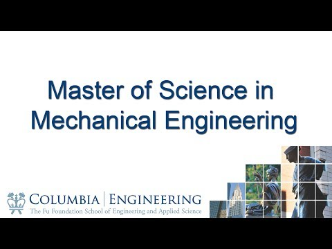 Master of Science in Mechanical Engineering