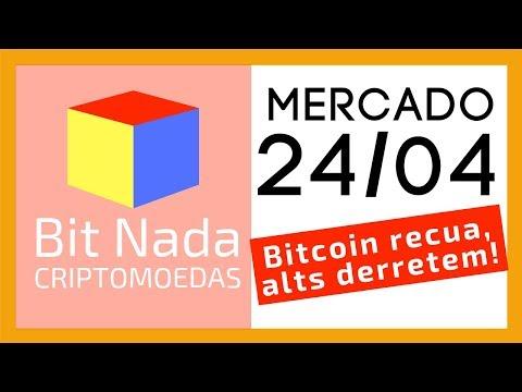 Mercado de Cripto! 24/04 BITCOIN RECUA, ALTS DERRETEM!! / ADA / Disney / FOMO