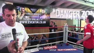 JOE GALLAGHER SPEAKS TO THE PUBLIC @ OPEN WORKOUTS WHILE ANTHONT CROLLA SKIPS IN BACKGROUND