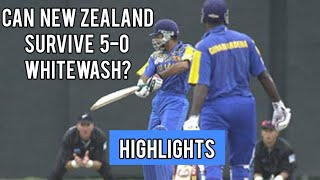 Can New Zealand Survive 5-0 Whitewash? | New Zealand V Sri Lanka | 5th ODI 2001 Highlights