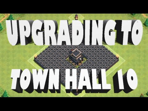 Clash of Clans- *UPGRADING TO TOWNHALL10!* Plus MAXING Barb King and All LVL9 Walls!