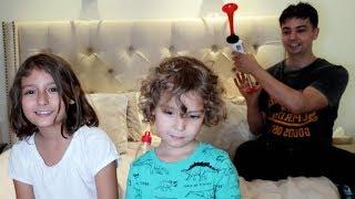 مقلب المزمار الهوائي في الأطفال!