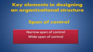 Key Elements In Designing An Organizational Structure Span Of Control