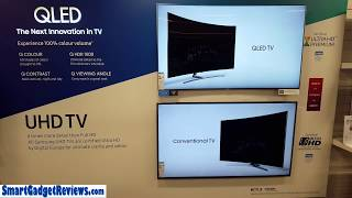 Samsung 4K QLED vs UHD Picture Comparison Video