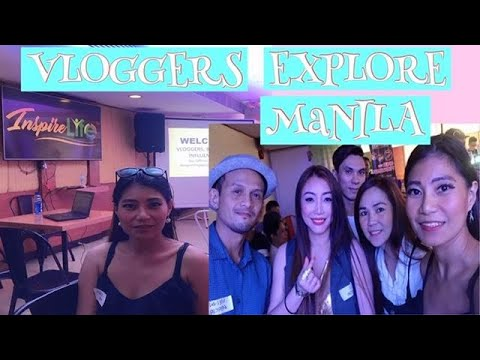 INSPIRE VLOGGERS EXPLORE MANILA | MEET AND GREET WITH THE VLOGGERS | MELVIN BLUE TV |MG PINEDA TRIM