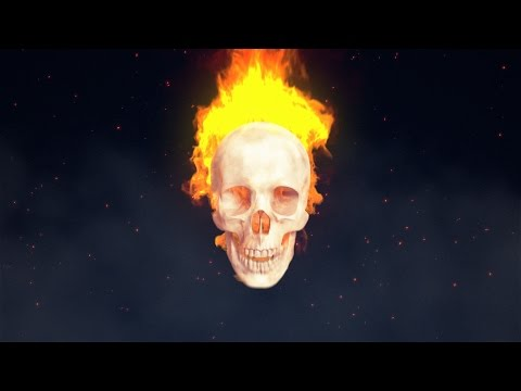 Fire Skull Intro - Cinema 4D and After Effects Tutorial ( TurbulenceFD )