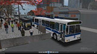 Omsi 2 tour (1667) New York Bus Q91 Sabri Railroad Station - South Ferry - Shore Beach @ Orion V bus