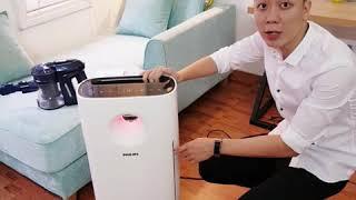 Dùng thử máy lọc không khí Philips AC3256 tại Hà Nội những ngày ô nhiễm đạt mức kỉ lục