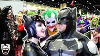 HILARIOUS BATMAN COMIC CON FLASH MOB! Featuring JOKER & HARLEY QUINN