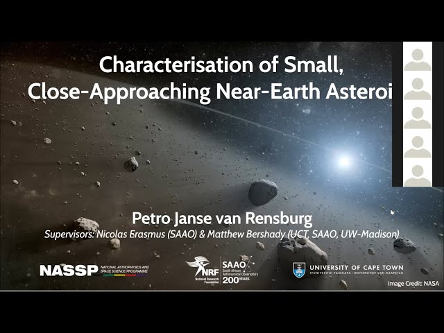 SAAO Colloquium 24June2021 - Characterization of small close approaching near earth Asteroids