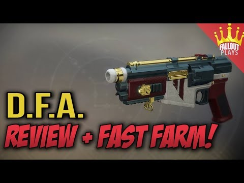 Destiny 2:  D.F.A. Hand Cannon Review & Fast Farm