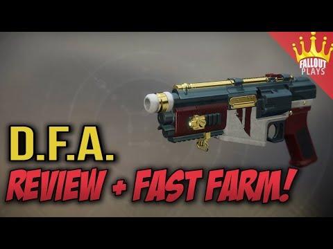Destiny 2:  D.F.A. Hand Cannon Review & Fast Farm