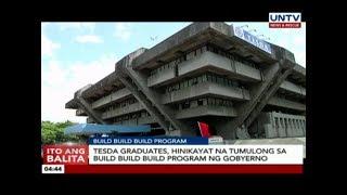 TESDA graduates hinikayat na tumulong sa Build Build Build program ng gobyerno