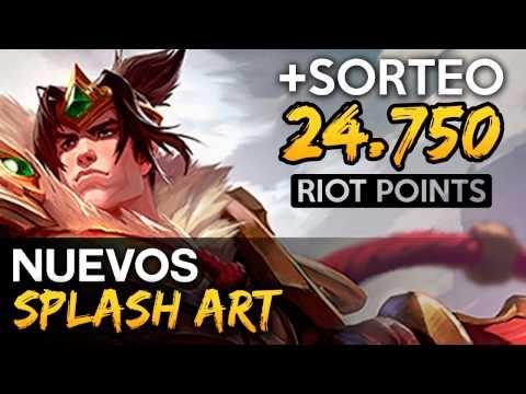 Noticias LOL | Nuevos Splash Art + Sorteo: 24750 RP