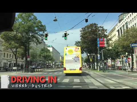 Driving in Vienna, Austria I Autofahrt durch Wien, Österreich