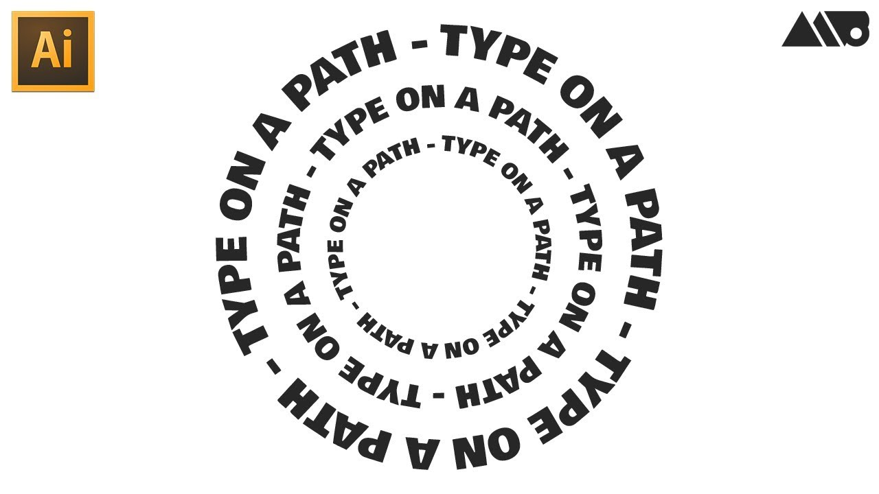 How to Create Text on a Path in Adobe Illustrator Tutorial