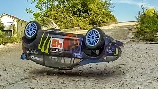 RC Hoonigan HPI WR8 Flux Gymkhana R/C rally and drift ACTION!