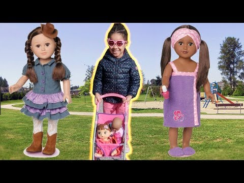FamousTubeKIDS Take My Life Doll For A Walk And Feed Her At The Park