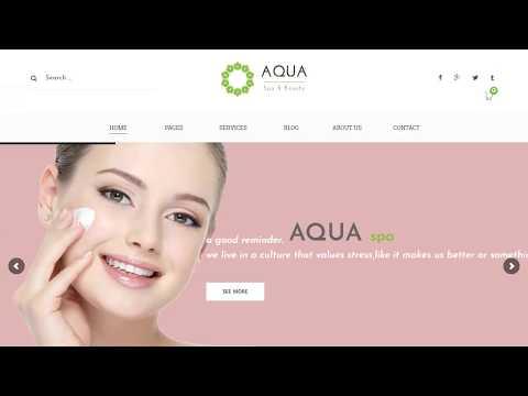 Aqua - Spa and Beauty Responsive WooCommerce WordPress Theme thumbnail