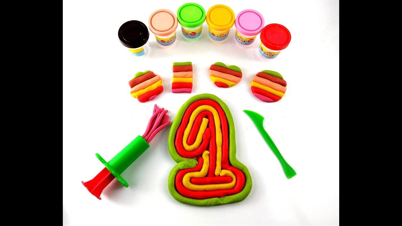 Play Doh Oyun Hamuru Sayilar Ve Sekiller Yapimi Hamur Oyunlari