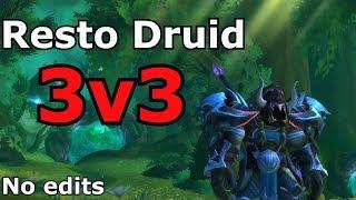 [WoW] Resto Druid 3v3 w/ Savix | 2400 mmr Games | Patch 7.3.5 Claak
