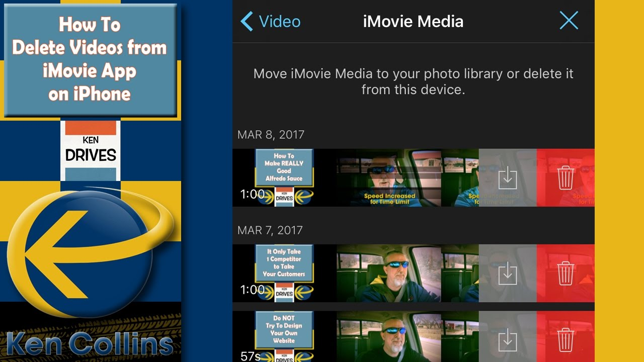 Ken Drives: How to Delete Videos from iMovie App on iPhone