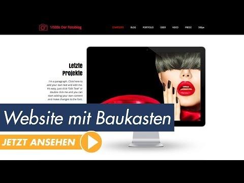 Webdesign Tutorial - Bau dir deine Website mit einem Homepage-Baukasten!