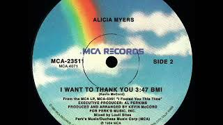 Alicia Myers - I Want To Thank You (Dj ''S'' Remix)