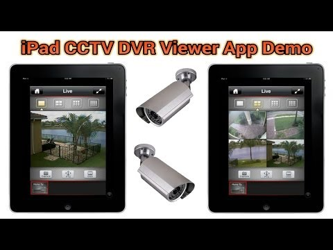 iPad CCTV App for iDVR Video Surveillance Recorders