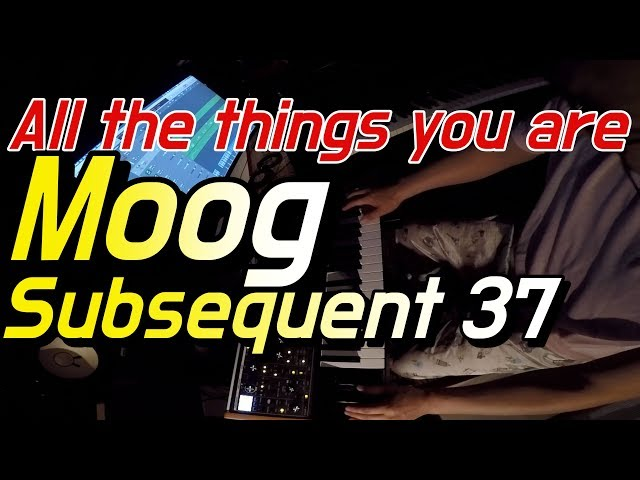 Moog Subsequent 37 | All the things you are
