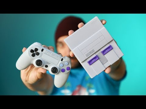 Trying an SNES mini with PS4 Controller!