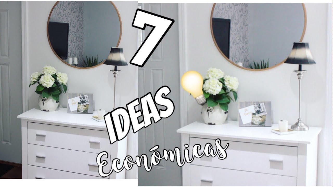 7 IDEAS para decorar y transformar tu casa sin gastar