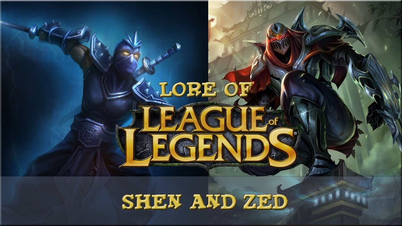 lore of league of legends part 46 shen and zed youtube