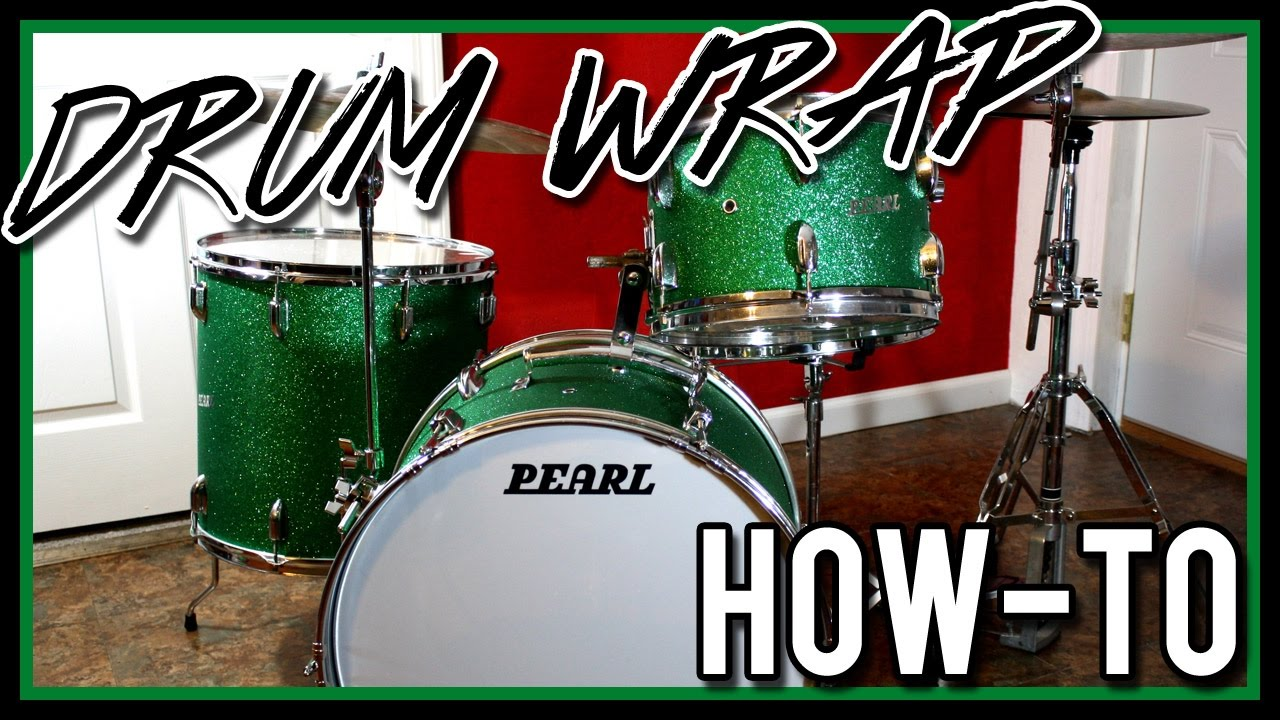 How to Wrap Drums the Cheap and Easy Way - Step by Step - Covering Drum  Shells
