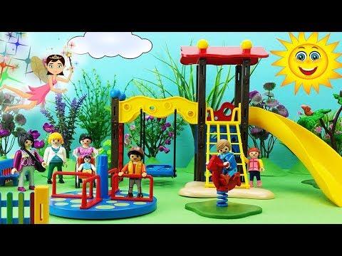 Zona de juegos playmobil parque infantil con tobog n y for Playmobil piscina con tobogan