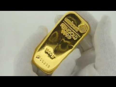 1 kilo goudbaar / gold bar 1000 gram Umicore bij Goudpensioen.nl in Amsterdam