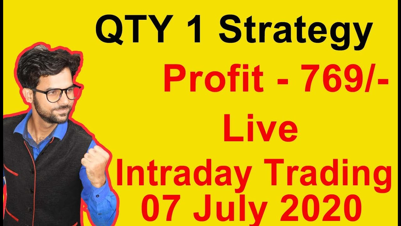 Live Intraday Trading 07 July 2020 QTY 1 Strategy with Price Action